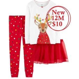 Size 12M Baby Girl Christmas Outfit Tutu Pants
